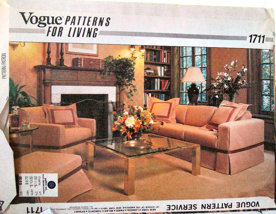 Vogue Pattern1711 Furniture Slipcovers