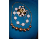 Mod squad bead necklace gold tone beads lot thumb155 crop