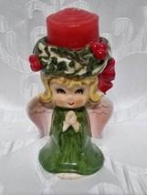 Vintage Lefton Praying Angel Tealight Candle Holder JAPAN - $14.52