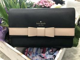 Kate Spade Kirk Park Veronique Saffiano Leather Crossbody Bag Clutch Bla... - $89.09