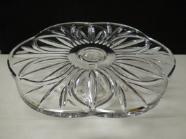 BEAUTIFUL CUT CRYSTAL FOOTED CAKE PLATE STAND~~... - $39.99