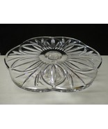 BEAUTIFUL CUT CRYSTAL FOOTED CAKE PLATE STAND~~nice one - $39.99
