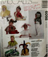 Pattern: 6098 (USED) Infant & Toddler Hood & Cape Costumes - $6.99