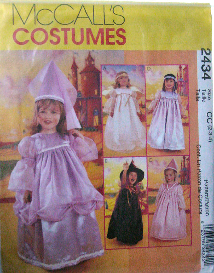 Pattern: Princess, Fairy, Angel, Witch costumes sz 2,3,4