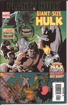 Marvel Planet Hulk Giant-Size Hulk #1 One Shot Hulk vs The Champions B B... - $4.95