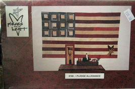 "Pattern: Wall Quilt, I Pledge Allegiance 39""x66"" + Stitchery - $6.99"