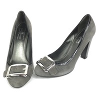 Original Car Shoe by Prada Suede Stacked Heel Patent Sz 40 9.5 10 - $67.89