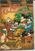 "1985 Walt Disney Picture's Christmas Book ""Mickey's Christmas Carol"" Sof... - $4.95"