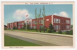 High School Morganton North Carolina linen postcard - $5.94
