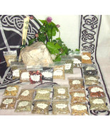 Witch Herb Set 25 Magical Herbs Starter Kit for Rituals Altar Pagan Wicca Spells - $17.46