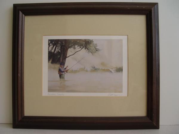 Signed Dale R. Cooper Fishing Watercolor Print
