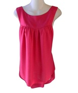 Womens Size S Pink Tie Back High-Low Tunic Top - $10.99