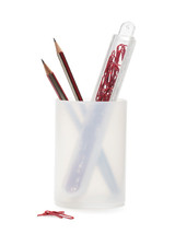 Paper clip container x 3 pencil cup Office SOHO... - $26.00