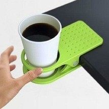 WHISM Desk Plastic Mug Cup Coffee Holder Clip Table Rack - £15.10 GBP