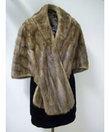 Extremely Soft Women's Brown Mink Stole Size Medium - $202.00