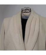 Donnybrook Full Length Cream Wool Coat Size 10 - $54.00