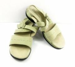 Clarks Springers Women's Sandals Leather Slingback Buckle Strap Comfort Shoes 8M - $34.47