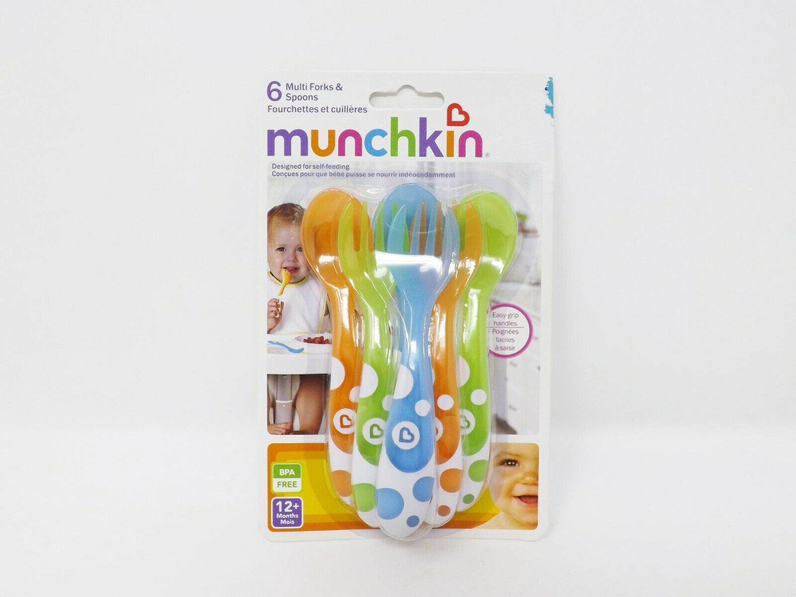 Munchkin Set of 3 Toddler Forks & 3 Toddler Spoons