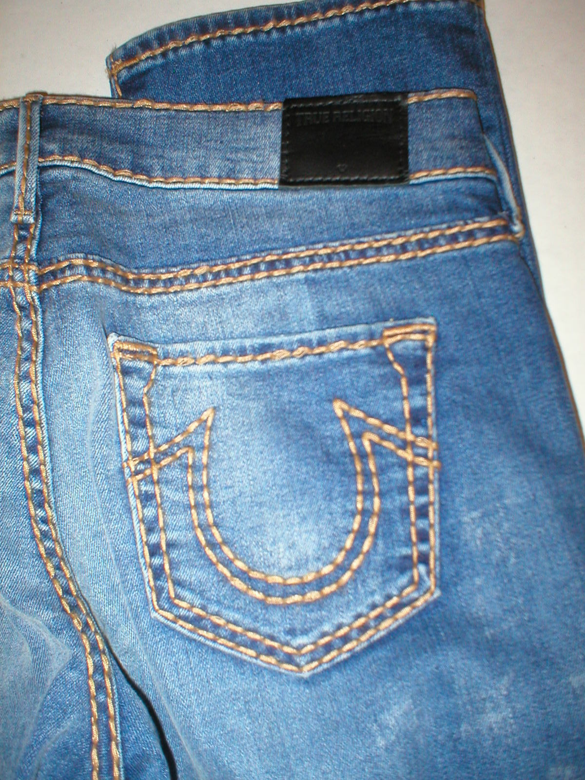 New Womens True Religion Brand Jeans Cora Super T Crock Blue Tide 28 NWT USA image 8