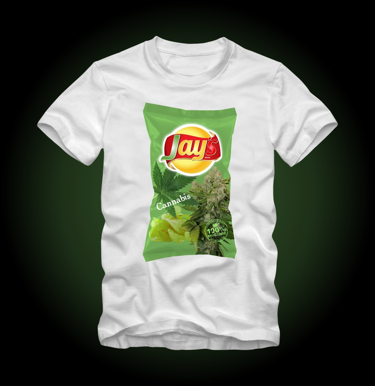 d51ecaf27 Cannabis 420 Weed Chips White T-Shirt by and 50 similar items. Jays weed  chips