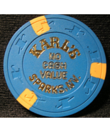 "1980'S NCV Casino Chips From: ""Karl's Silver Club""- (sku#2153) - $5.29"