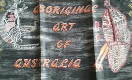 UNUSED VINTAGE PRINT KITCHEN TOWEL ~ ABORIGINAL ART OF AUSTRALIA - $7.91