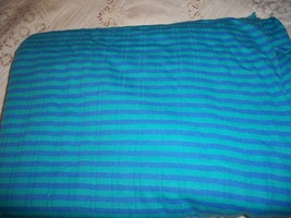 Turquoise & Blue Striped Stretch Knit Fabric  - $24.00