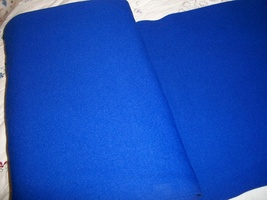 Navy Blue Polyester Stretch Tube Fabric Yardage - $15.00