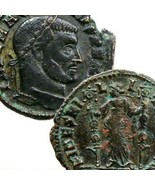 MAXENTIUS Ostia Italy mint. Fides Military Standards. Genuine Ancient Ro... - $170.10