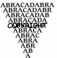 MAGICAL ABRACADABRA WORD STAMP new mounted rubber stamp