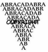 MAGICAL ABRACADABRA WORD STAMP new mounted rubber stamp - $8.00