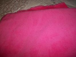 Pink Cotton Corduroy Fabric  - $12.00