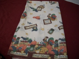 Autumn Scarecrow & Pumpkin Cotton Fabric  - $25.00
