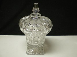 LARGE SQUARE BASED VINTAGE CANDY COMPOTE W-LID~~~take a look - $39.95