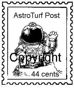 ASTROTURF POSTOID new mounted rubber stamp