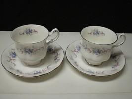 "2 Paragon ""Romance"" Cups & Saucers~~ ~Platinum Rim~~ - $17.99"