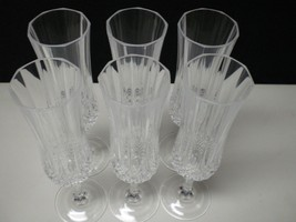 6 Cristal d'Arques Longchamp Tall Champagne Flutes~~~~have more - $22.99