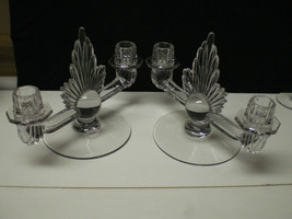 PAIR FOSTORIA FLAME DUO CANLDES~~~HTF THESE~~~ - $59.95