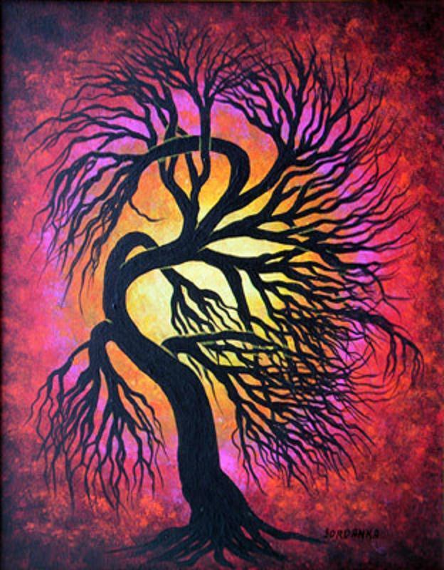 Easy Acrylic Paintings Of Trees Galleryhipcom The