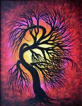 Wild Tree, Original Acrylic painting, tree painting - $375.00