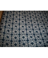 Navy & White Polyester Stretch Fabric  - $30.00