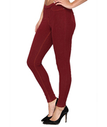 Hue Women's Soft And Slim Jean Leggings-Cabernet-Extra Large. - $35.00