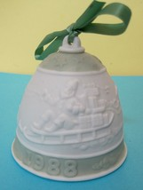 """Annual Christmas Bell Lladro 1988  Orig Ribbon 3 """" Excellent Shape  - $24.75"""