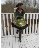 New Custom designer black ruffled African style dress gown S-8 free matc... - $593.99