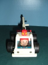 Vintage Fisher Price Little People #718 Tow Truck and Car Comp/EXC+++-NR MT! (A) image 2