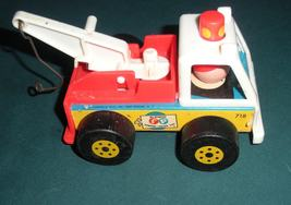 Vintage Fisher Price Little People #718 Tow Truck and Car Comp/EXC+++-NR MT! (A) image 3