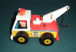 Vintage Fisher Price Little People #718 Tow Truck and Car Comp/EXC+++-NR MT! (A) image 5