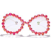 Vintage Women Pearl Glasses Frame  Luxury Wave legs Cateye Sunglasses Fashion Ra image 10