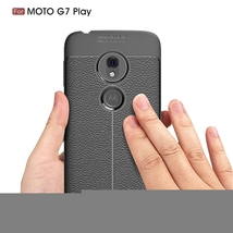 Litchi Texture TPU Shockproof Case for Motorola Moto G7 Play(Red) - $5.46