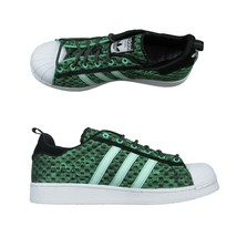08384054b0c Adidas Mens Superstar Glow in The Dark Green Basketball Shoes Size 11 F3.